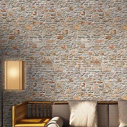 Amazon Com Prokth 3d Self Adhesive Brick Wallpaper Wall Peel And