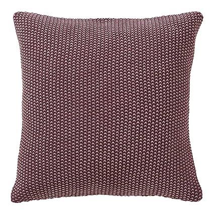 Amazon Ethan Allen Moss Stitch Knit Throw Pillow Beet Home