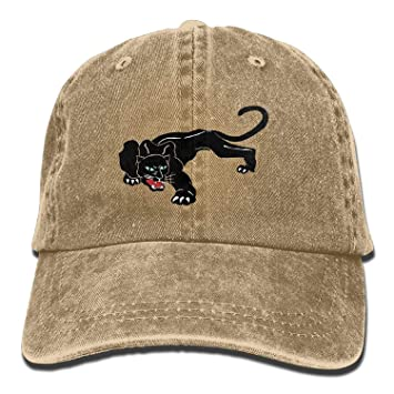 NGDUTZ Funny fashion Hat Baseball Cap Unisex Adult Black Panther Leopard  Washed Denim Cotton Sport Outdoor 69248243603