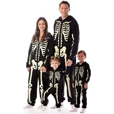 #followme Glow in The Dark Skeleton Jumpsuit Pajamas Family Sleepwear: Clothing