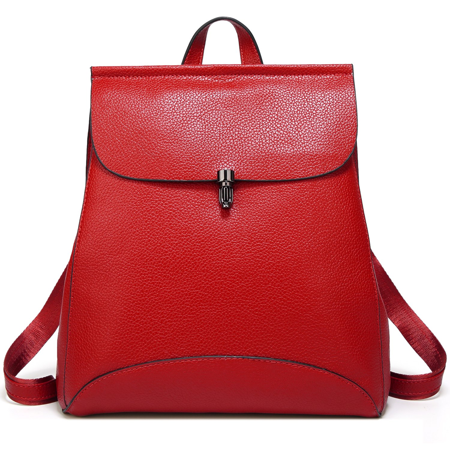 Galleon - SiMYEER Women s Pu Leather Backpack Purse Ladies Casual Shoulder  Bag School Bag For Girls (Red 3) ee4657b3bc