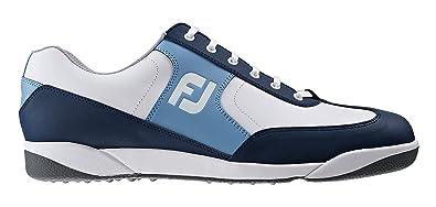 Footjoy AWD XL Casual - Zapato de Golf para Hombre, Color Azul Marino/Blanco/Azul Cyan, Talla 45 (M)