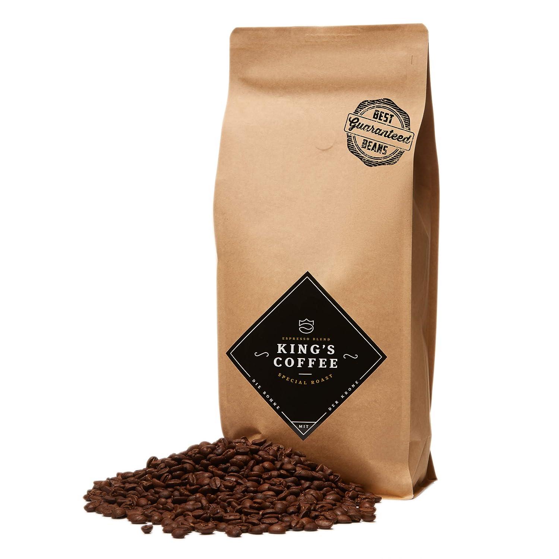 King's Coffee – Spezielle Espresso Röstung – Feinster Arabica Robusta Blend – Kaffee-Bohnen für Vollautomaten – 1KG Espresso-Bohnen