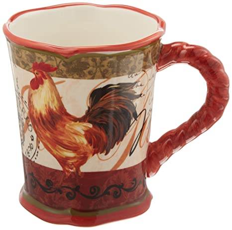 Amazon.com | Tuscan Rooster 4 Piece Mug Set (Set of 4): Coffee Cups ...