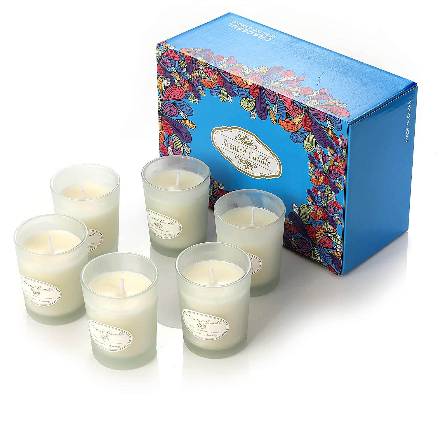 8 x 4.4 Oz Gift Set Natural Soy Wax Scented Candles with Smoke Free Relaxing and Lasting Fragrance for Festival Gift Bath Relaxation Home Decor Aromatherapy Candles