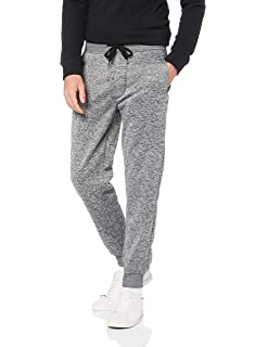 834316bfc1b1 Southpole Men's Big and Tall Jogger Pants Basic Fleece Solid Clean in  Colors, Marled Grey