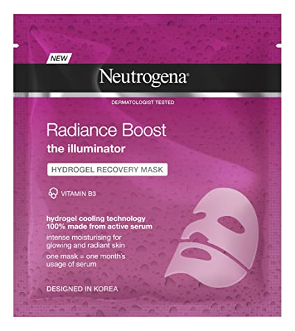 Neutrogena Radiance Boost hydrogel recuperación máscara, 30 ml