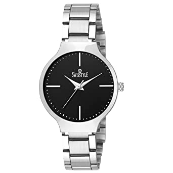 8fd43e0e19e Buy Swisstyle Analogue Black Dial Women s Watch-Ss-Lr823-Blk-Ch Online at Low  Prices in India - Amazon.in