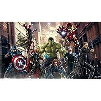 WallDiy Avengers Wallpaper: Spider-Man Hulk Thor Iron Man Home Decoration Wall Art 3D Wallpaper Mural