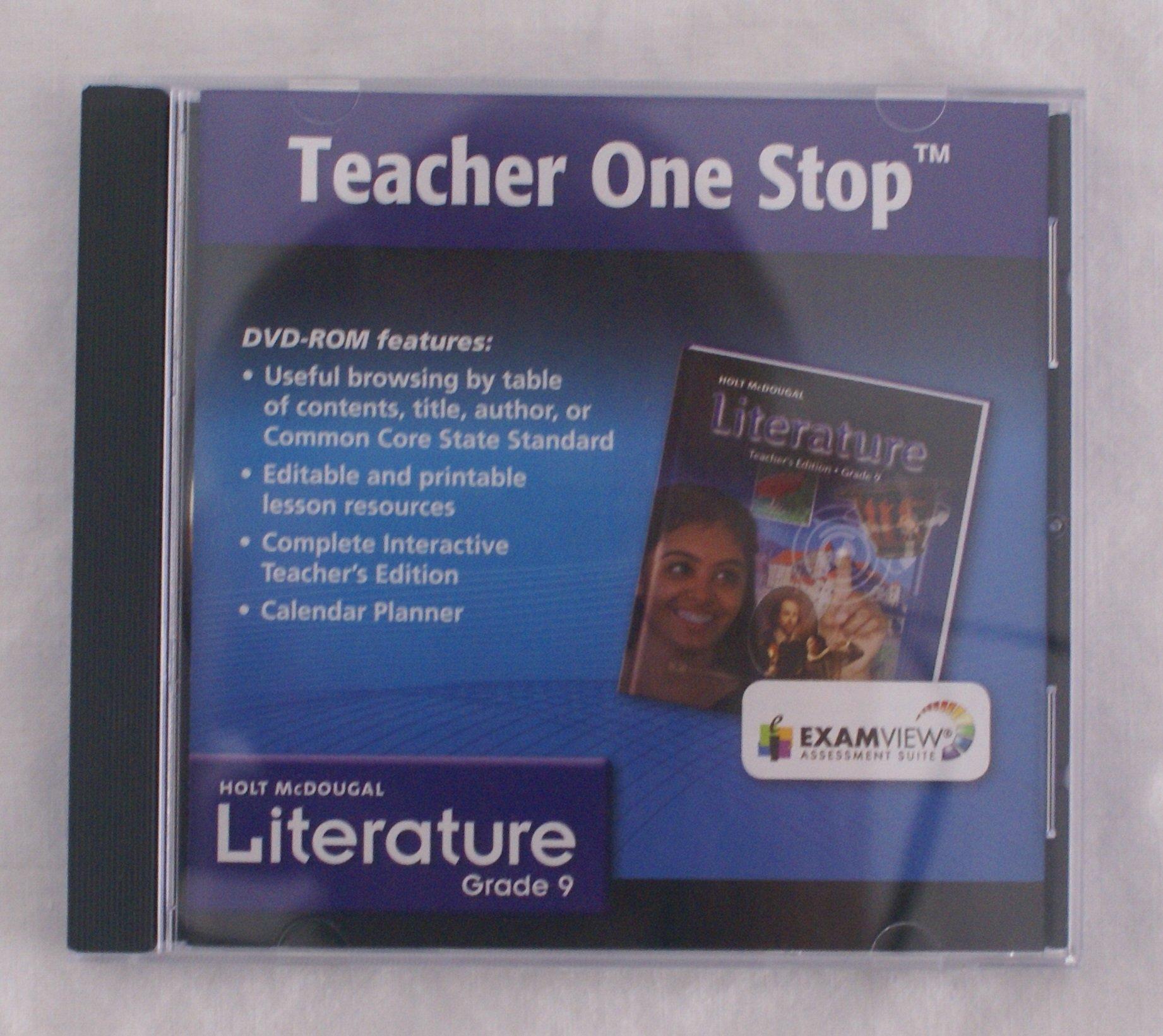 Teacher One Stop, Hold McDougal Literature, Grade 9, Examview Assessment Suite DVD-ROM by Holt McDougal
