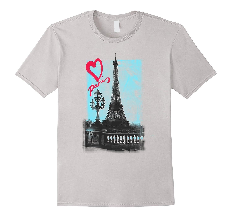 paris eiffel tower bridge love t shirt for women great. Black Bedroom Furniture Sets. Home Design Ideas