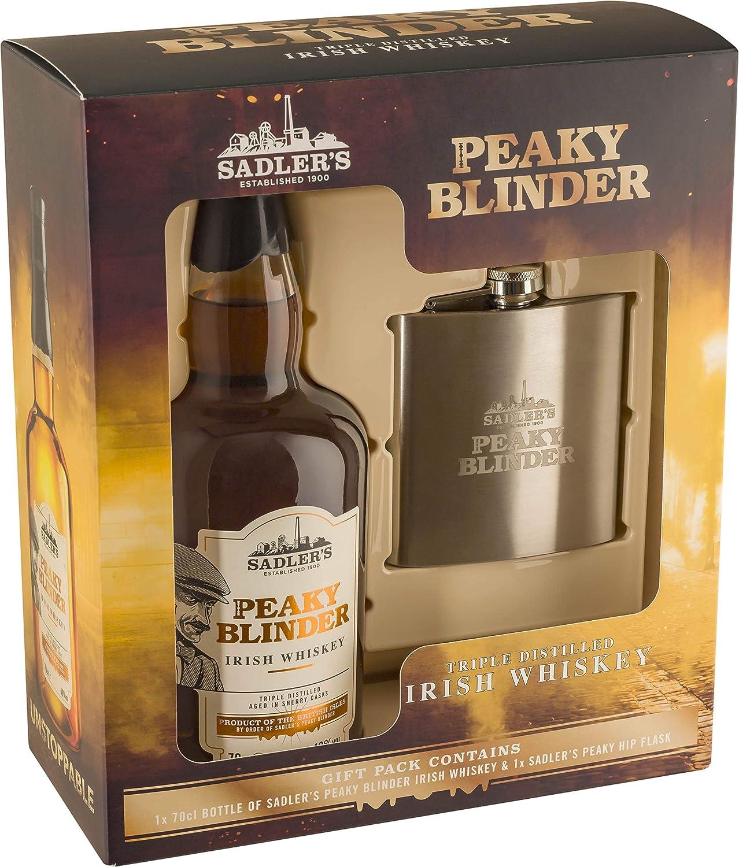 Peaky Blinder Whiskey Gift Set with Hip Flask, 70 cl: Amazon.es: Alimentación y bebidas