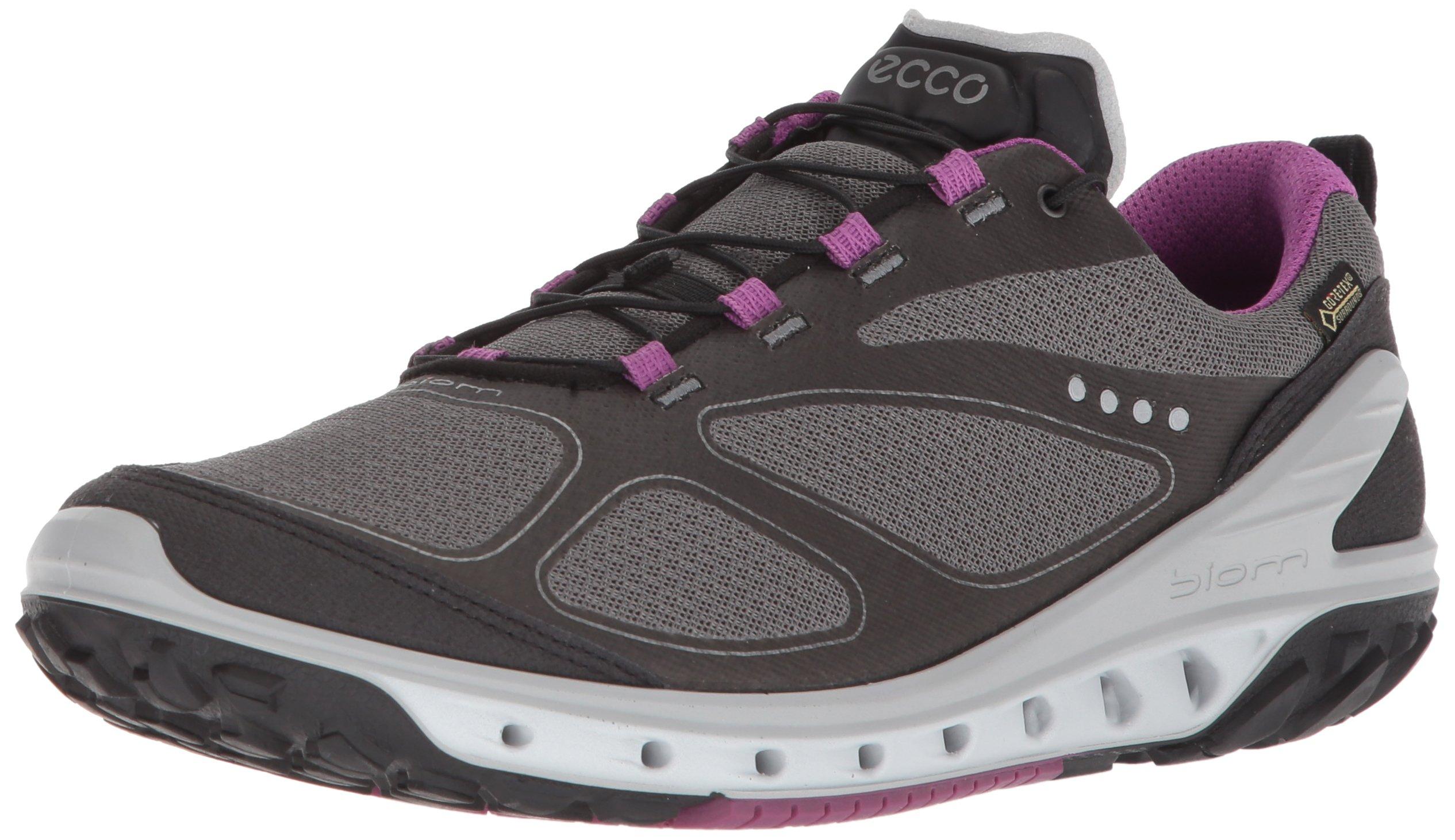 ECCO Women's Biom Venture Gore-TEX Trail Runner, Black/Titanium/Orchid, 37 EU/6-6.5 M US