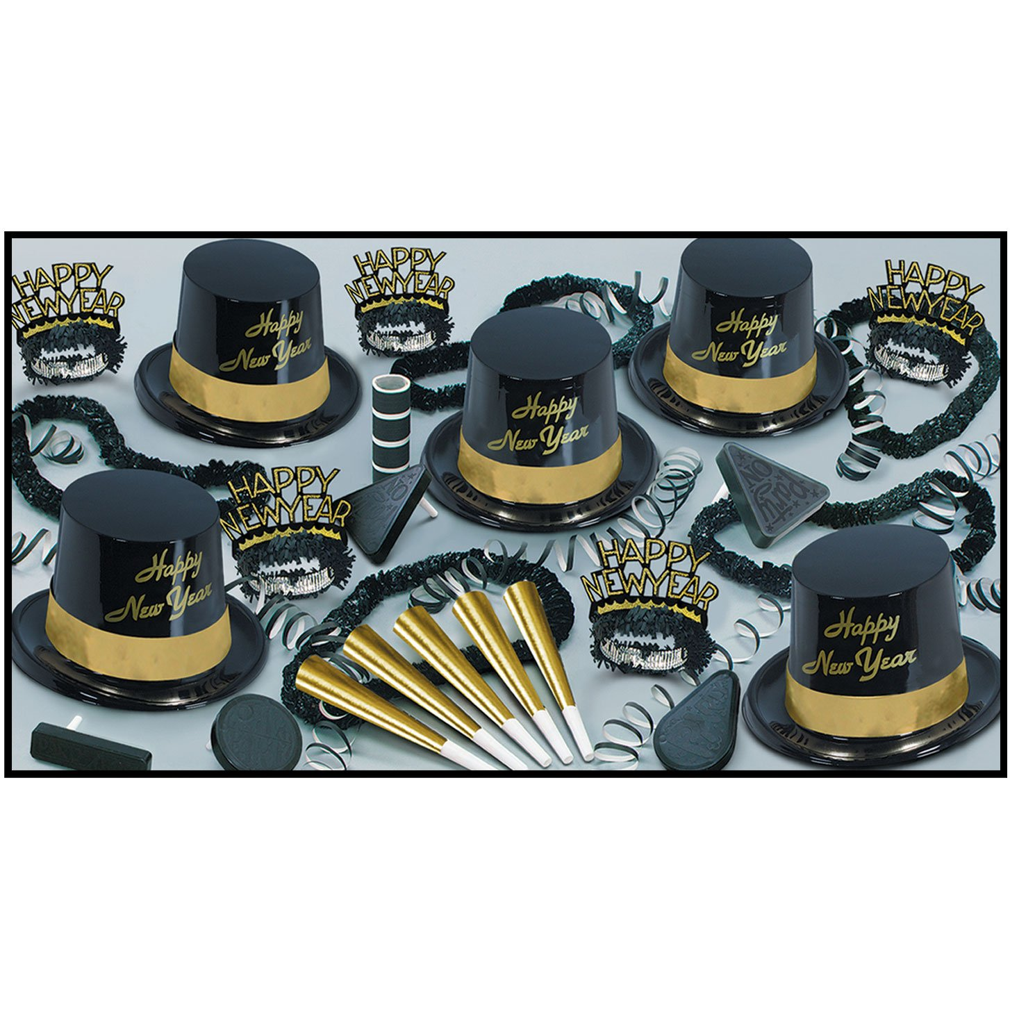 Gold Legacy – Legend Schwarz& Gold & silber New Year 's Party Sortiment Kit for 25 Goldfarben SchwarzGoldfarben SchwarzKit for 10