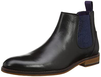 9e2a7689d Ted Baker Men s Camroon 4 Leather Pull On Chelsea Boot Black-Black-8
