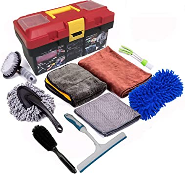 10 Pieces/Multi-Purpose/Washing Tools for Car Motorcycle Home Care EASY EAGLE Car Cleaning Kit