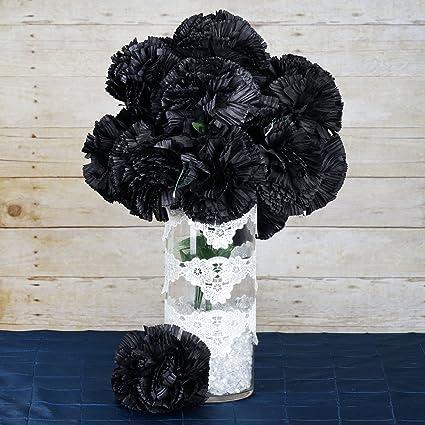 Amazon balsacircle 36 black silk extra large carnations flowers balsacircle 36 black silk extra large carnations flowers 4 bushes artificial flowers wedding party mightylinksfo