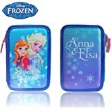 Astuccio portapastelli 3 cerniere 38 pz scuola colori matite cancelleria Frozen prinicipesse Elsa ed Anna. MWS