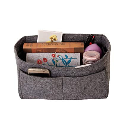 a7ff46dbe22d Amazon.com | Felt Insert Bag Organizer Bag In Bag For Handbag Purse  Organizer, 6 Colors, 4 Size (gray, S) | Packing Organizers