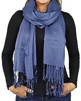 Belle Donne- Women's Scarf Viscose Pashmina Scarves / Shawl Wrap - Solid Colors