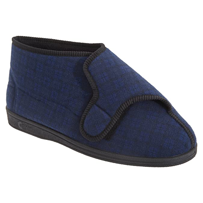 Comfylux Mens Gerry Superwide Bootee Slippers