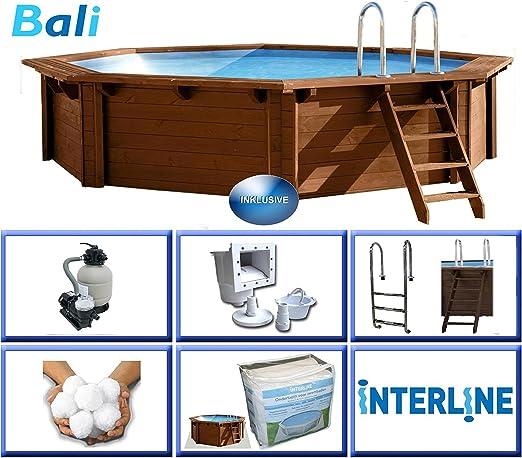 Interline 50700210 Bali - Piscina para instalación sobre Tierra y ...