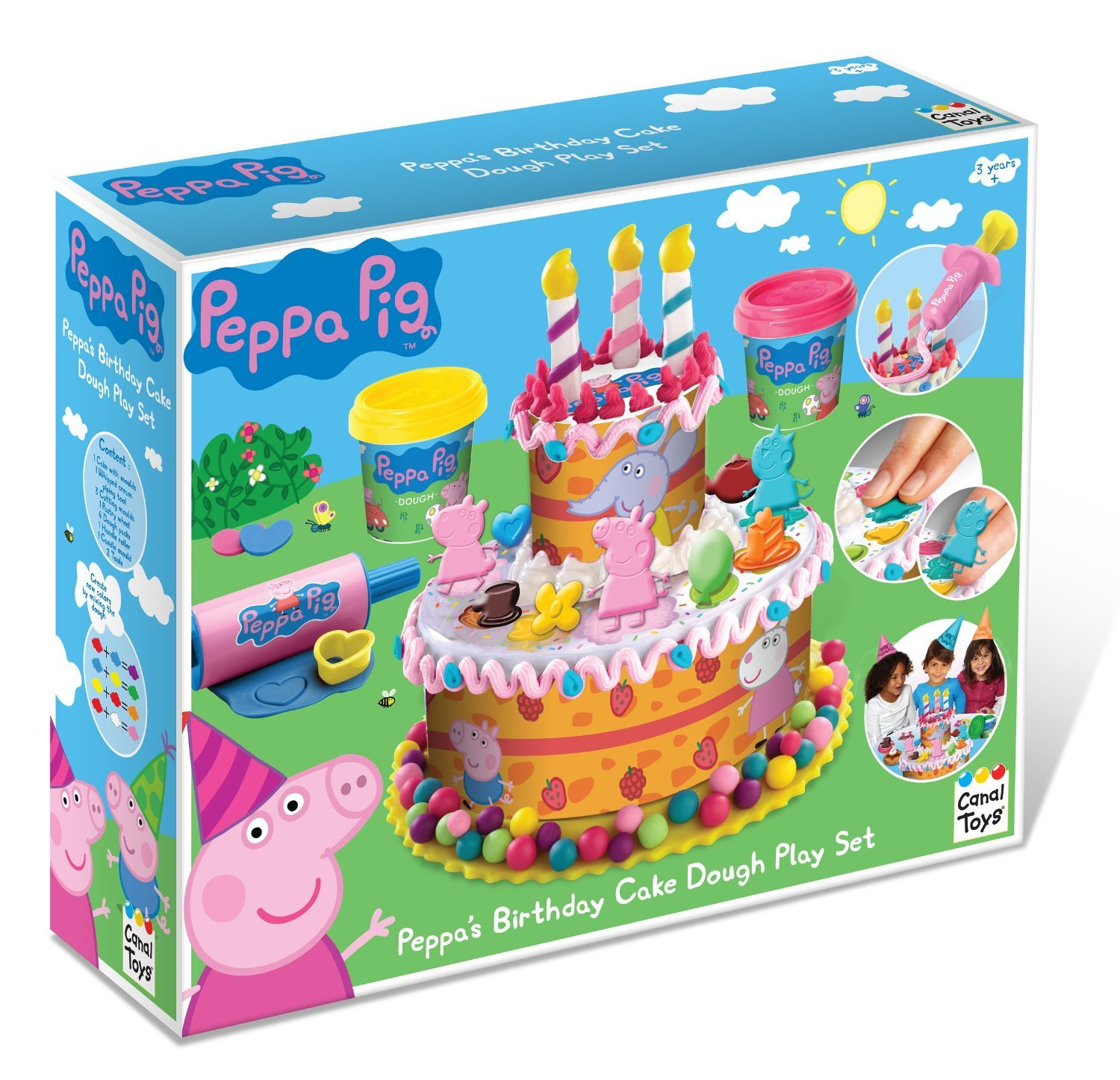 Buy Peppa Pig Birthday Cake Dough Set Compatible With Play Doh Ages 3 Online At Low Prices In India Amazon In