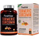 Turmeric Curcumin with BioPerine Black Pepper and Ginger - Made in USA - 120 Vegetarian Capsules for Advanced Absorption, Car