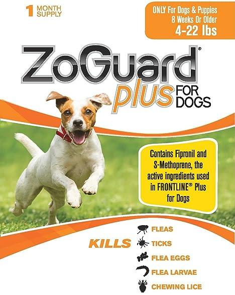 Amazon Zoguard Plus 1 Dose Small 4 22 Lbs Made In The