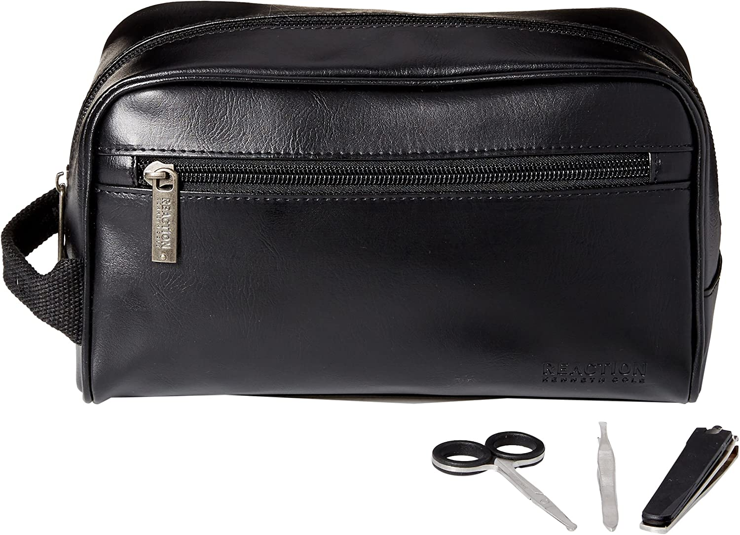 Kenneth Cole REACTION Men s Travel Toiletry Bag Shaving Kit With 3 Piece Manicure Set