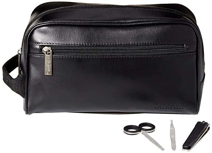 Kenneth Cole REACTION Men s Travel Toiletry Bag Shaving Kit with 3 Piece  Manicure Set c626044dd2590