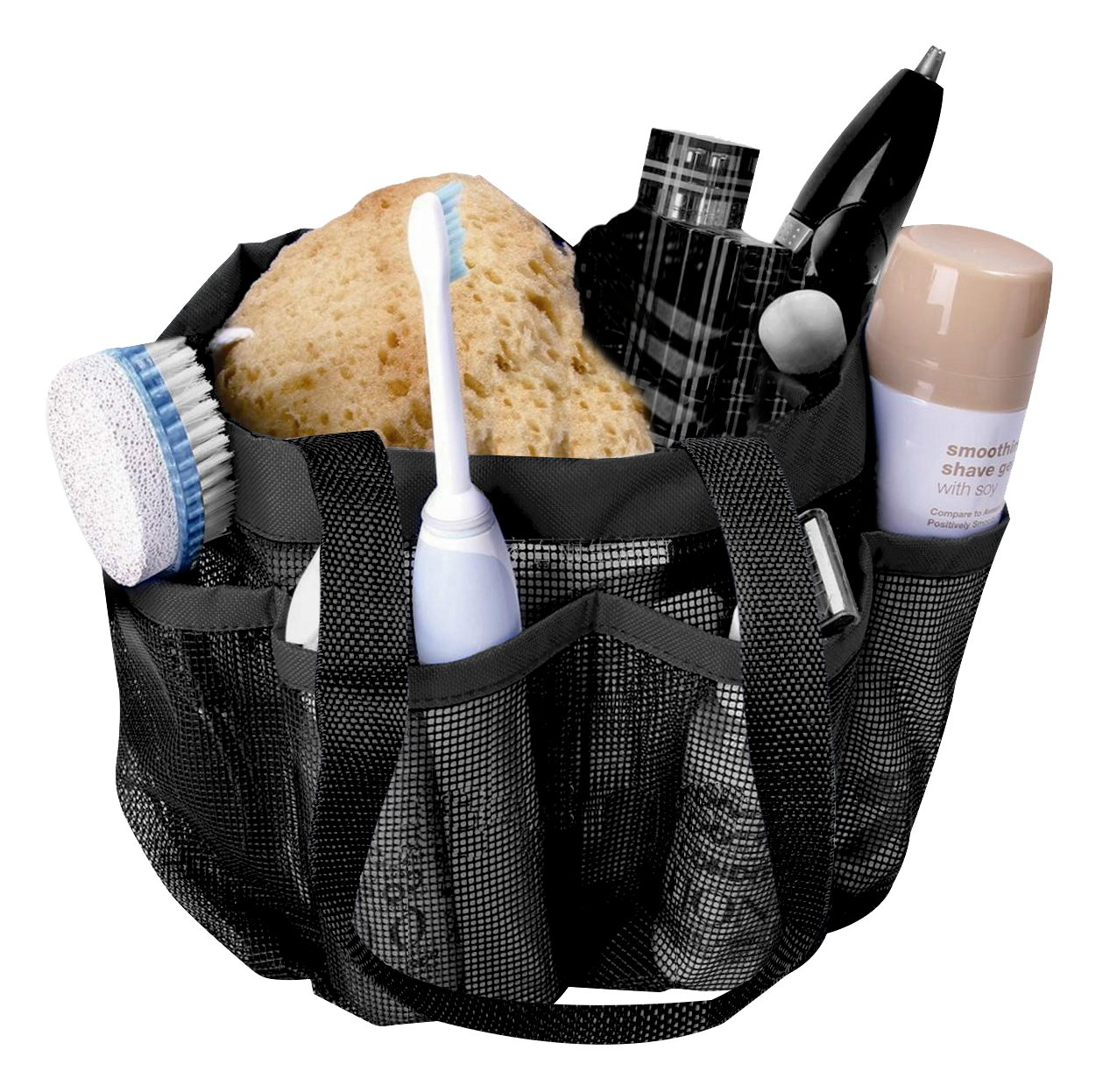 Portable Shower Caddy 8 Mesh Storage Pockets Quick Dry Tote Bag Hang ...