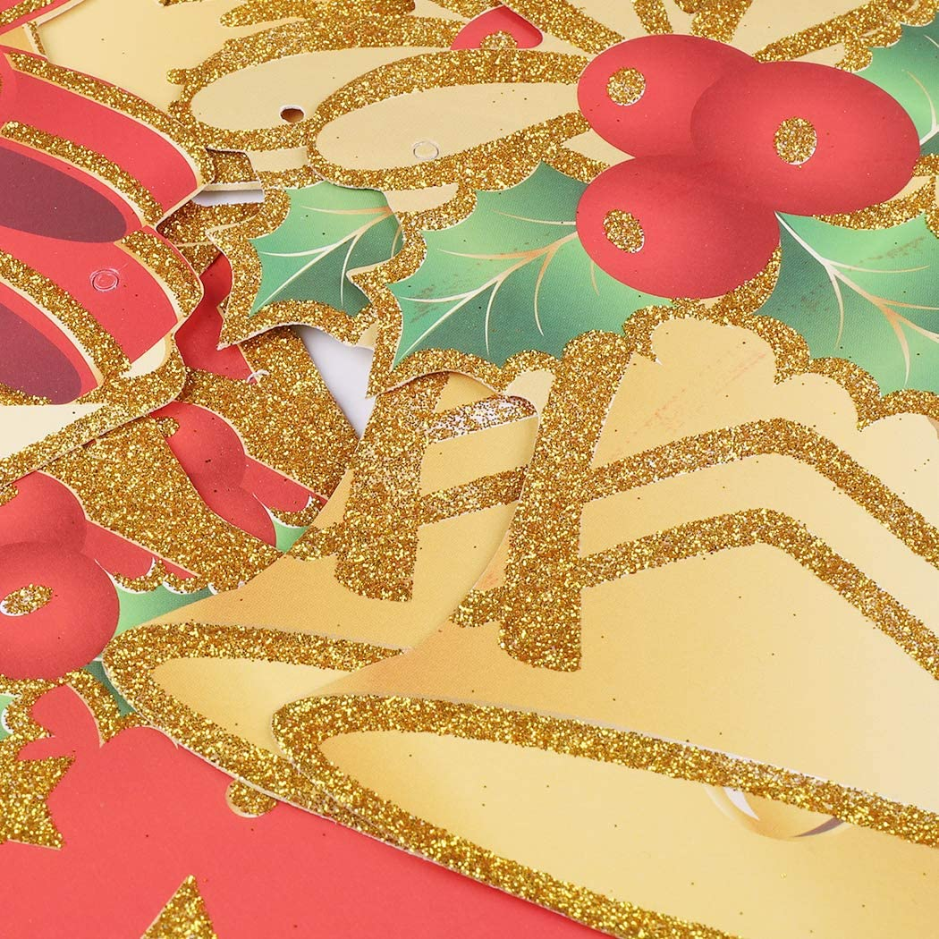 Style2 Meuilleur D/écoration de Maison ou sur Arbre de No/ël Pendentif Ornements No/ël Banderole Guirlande Fanions No/ël Multi-Mod/èles UKMASTER 3m Banni/ère de No/ël en Papier