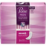 Poise Incontinence pads, Maximum Absorbency, Long, 42 Count (Pack of 2) (packaging may vary )