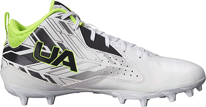 Men's Under Armour UA Ripshot Mid MC Sneakers (White/Charcoal) -