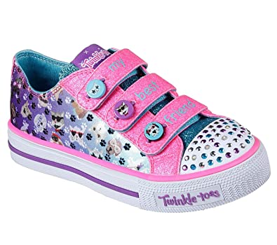 927f78e22794 Skechers 10859L Girl s Twinkle Toes  Shuffles - Paw Party Shoes