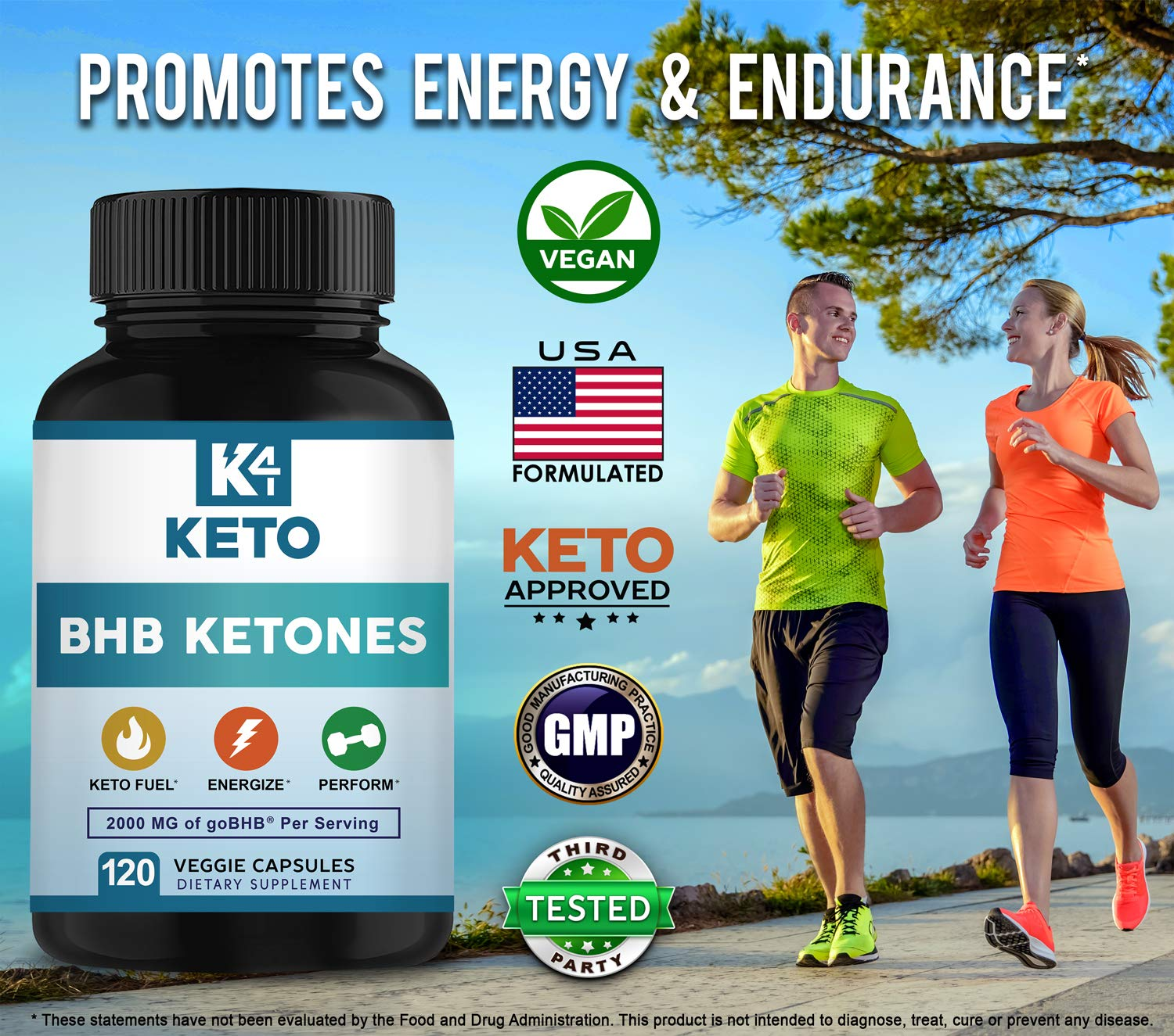 K4 Keto BHB - Exogenous Ketones BHB Salts Capsules - 2000mg of Patented goBHB Beta-Hydroxybutyrate - Ketone Supplement Pills to Support Ketogenic Diet & Ketosis by K4 Keto (Image #3)