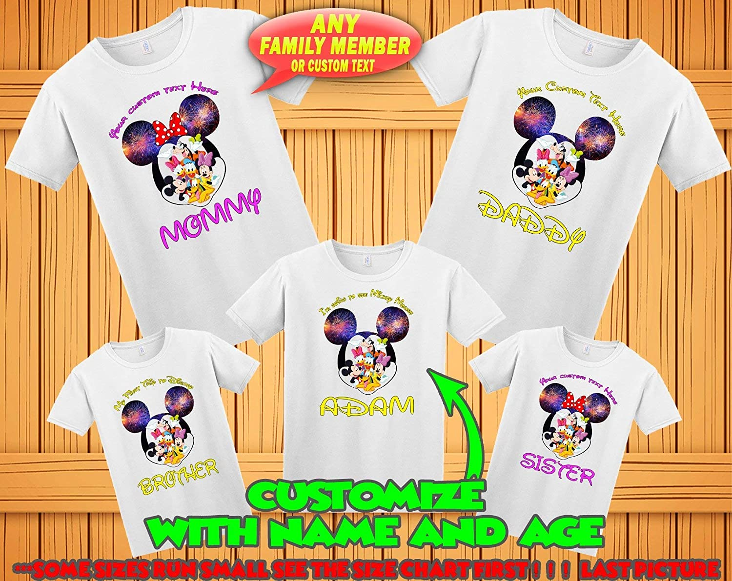 d7ba3f49 Mickey Minnie Mouse family matching tshirts, birthday Disney family matching  custom t-shirts, Family vacation disney shirts, custom Personalized disney  ...