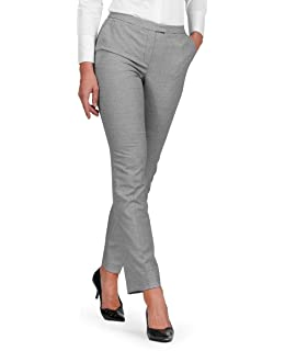 854b3d42bb79 T.M.Lewin Francesca Trousers in Black and White Check: Amazon.co.uk ...