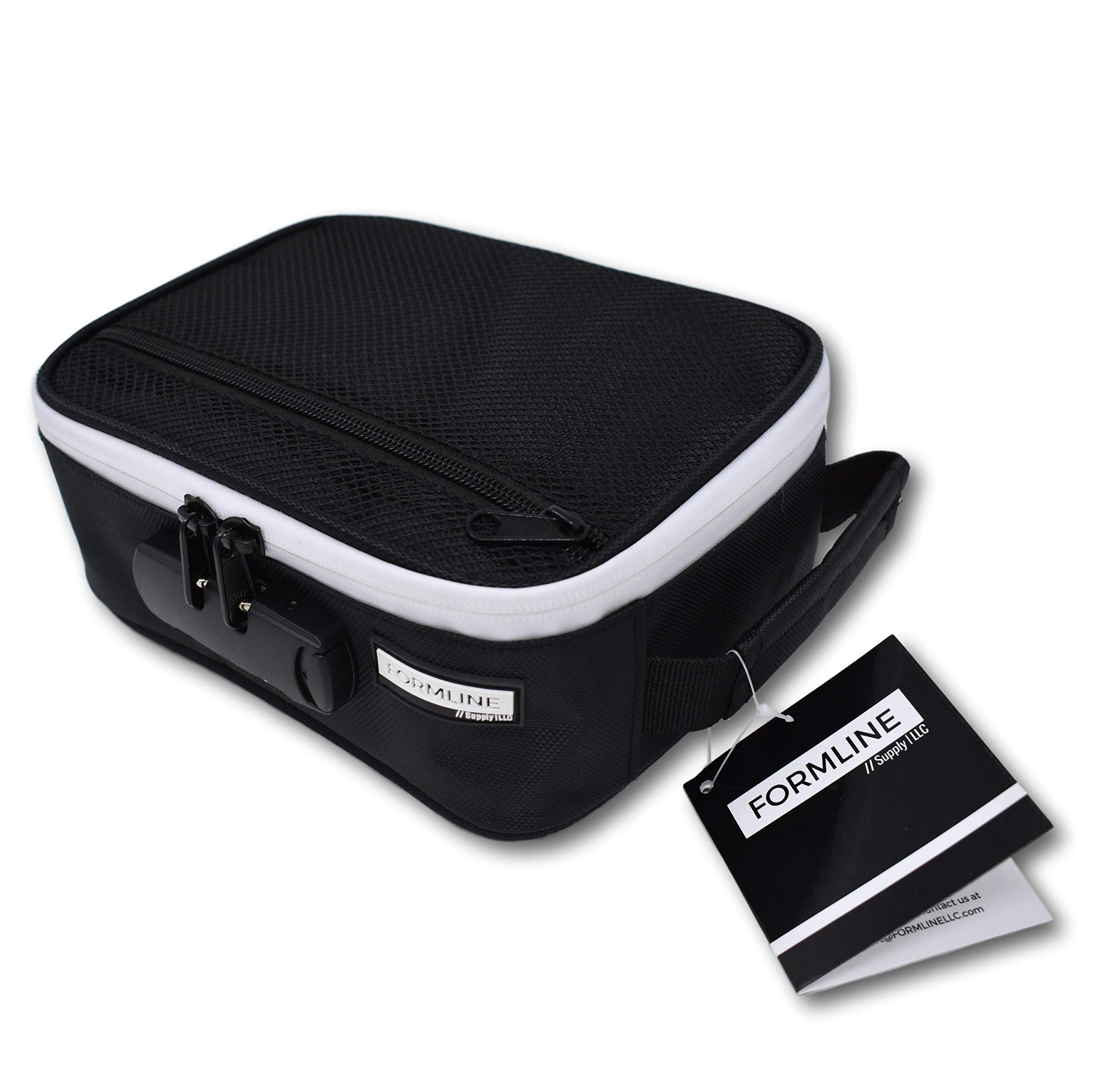 Formline Smell Proof Case with Combination Lock 8x6x3 - Premium Odor Proof Bag for All Your Accessories. Eliminate Odor - No Smell Escapes This Discreet Stash Container.