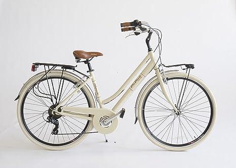 Bicicletta 605a Donna Made In Italy Via Veneto Beige Cappuccino