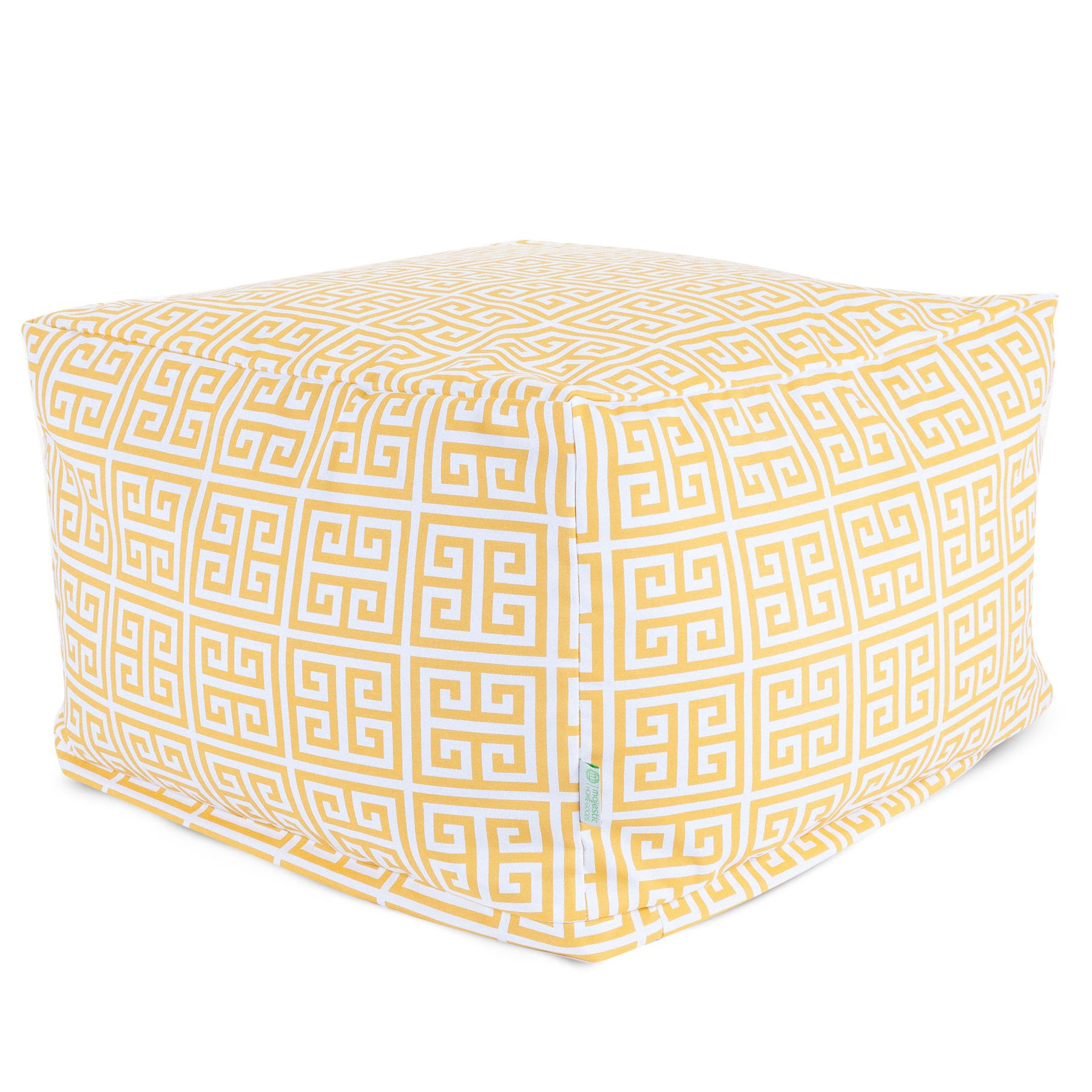 Majestic Home Goods Towers Ottoman, Large, Citrus