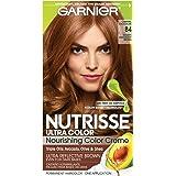 Garnier Nutrisse Ultra Color Nourishing Permanent Hair Color Cream, B4 Caramel Chocolate (1 Kit) Brown Hair Dye (Packaging Ma