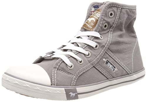 1099-502-1, Womens Hi-Top Trainers Mustang