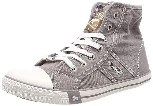 Mustang 1099-502-932, Zapatillas Altas Para Mujer, Gris (Silbergrau), 38 EU: Amazon.es: Zapatos y complementos