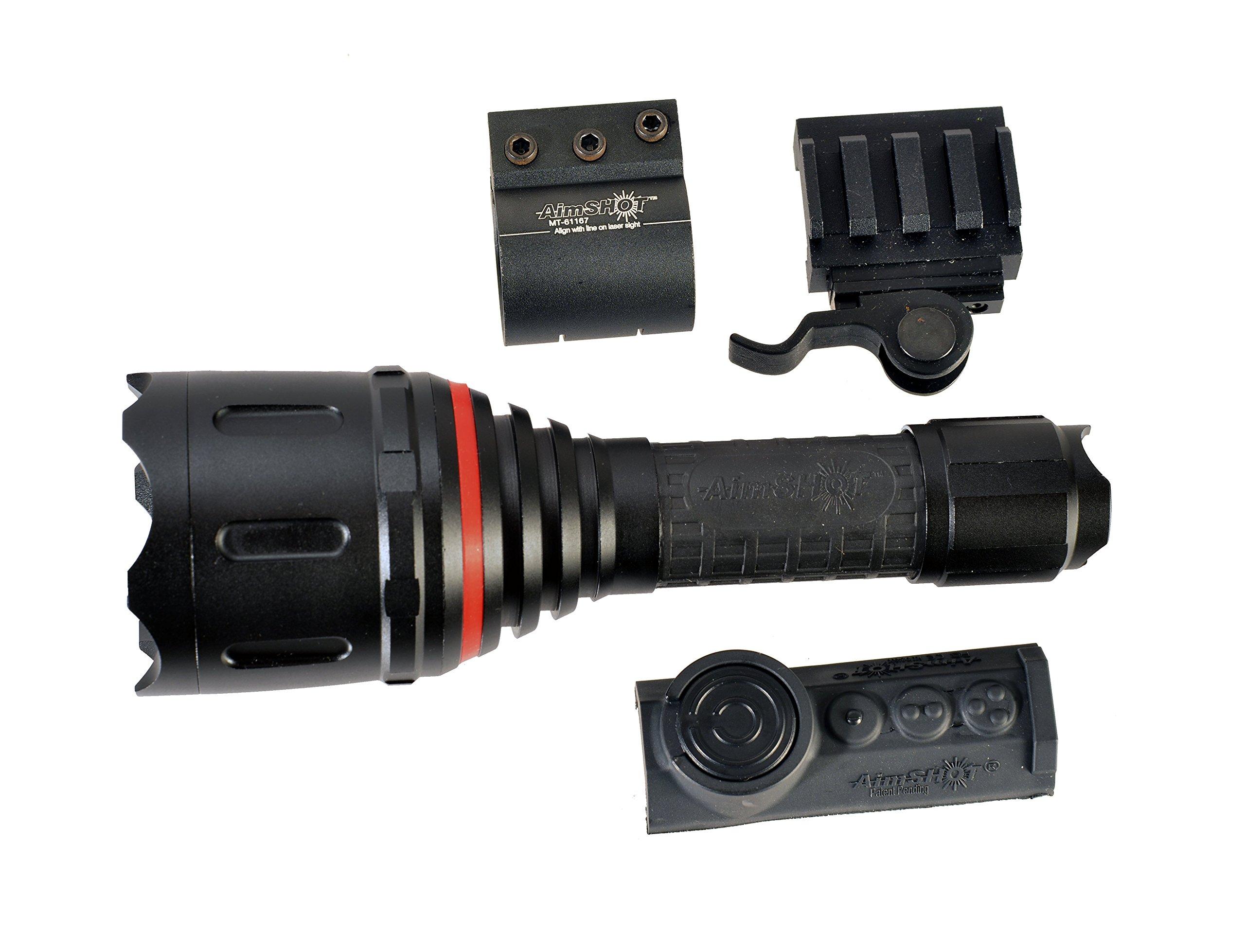 Aimshot TZ980-IR Adjustable Beam Wireless IR Flashlight Kit, Black