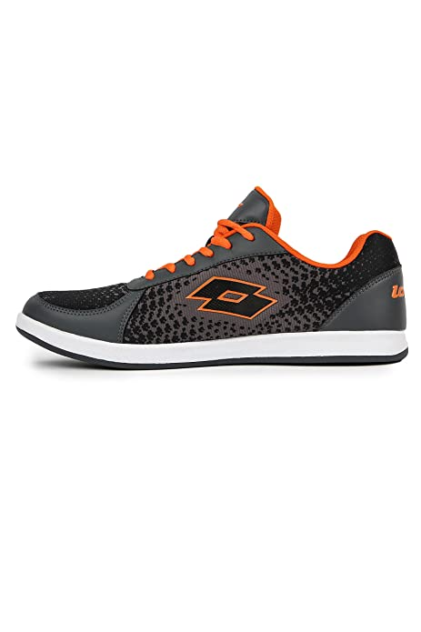 Lotto Men Pitlane Grey/Orange Leisure Shoes 6 UK/India