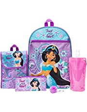 Disney's Aladdin Backpack Combo Set - Disney Aladdin Girls' 6 Piece Backpack Set - Jasmine Backpack & Lunch Kit