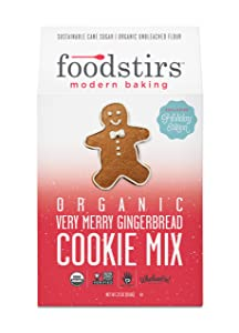 Foodstirs Organic, Non GMO Very Merry Gingerbread Cookie Mix, 23 Ounce