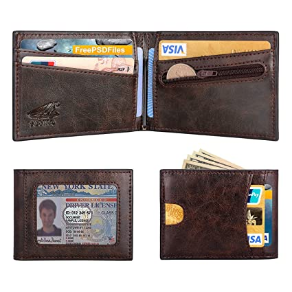 a19e4ae6d975ea Image Unavailable. Image not available for. Color: YUTING New Money Clip  Wallet Coin Pocket for Men Slim Front Pocket RFID Blocking Card Holder
